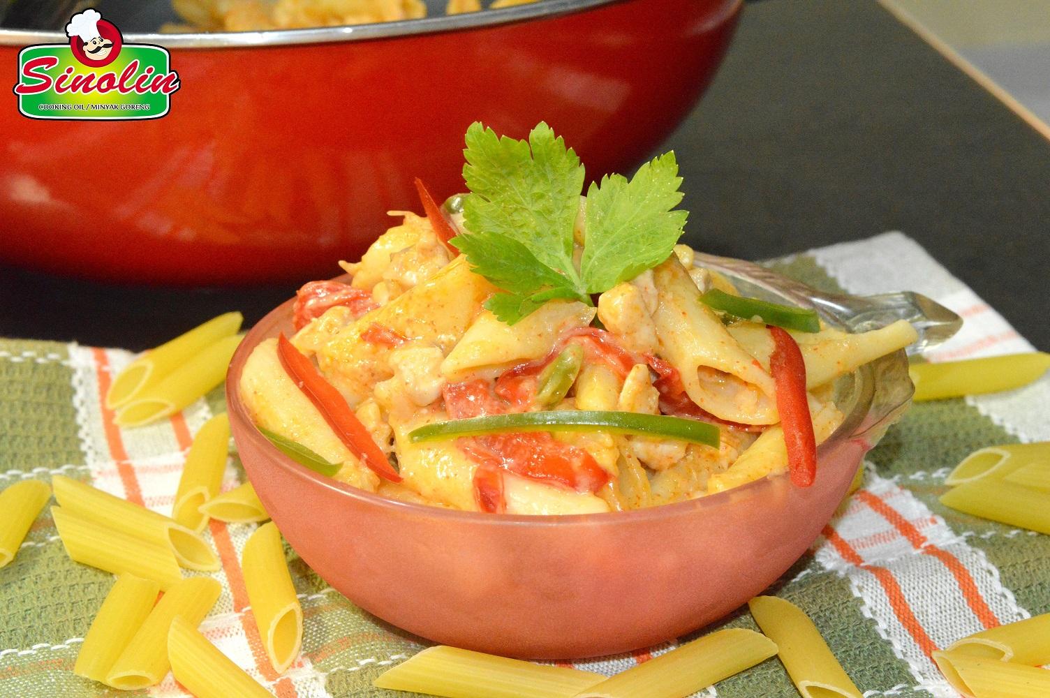 Resep Pasta Lezat dengan Potongan Daging Ayam by Dapur Sinolin