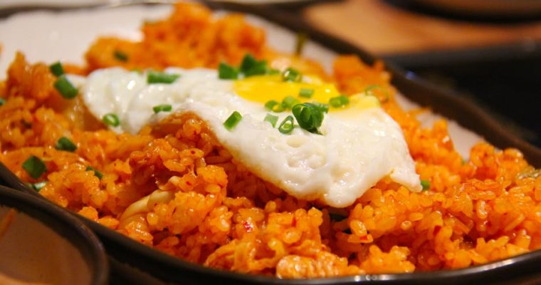 Spicy Hot Kimchi Fried Rice Recipe by Madam Kopi Oh