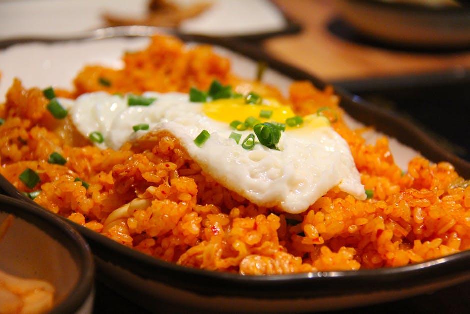Spicy Hot Kimchi Fried Rice Recipe by Madam Kopi Oh