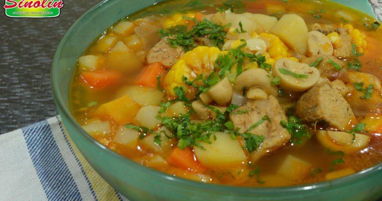 Resep Sup Ayam Dengan Sayuran Jamur oleh Dapur Sinolin