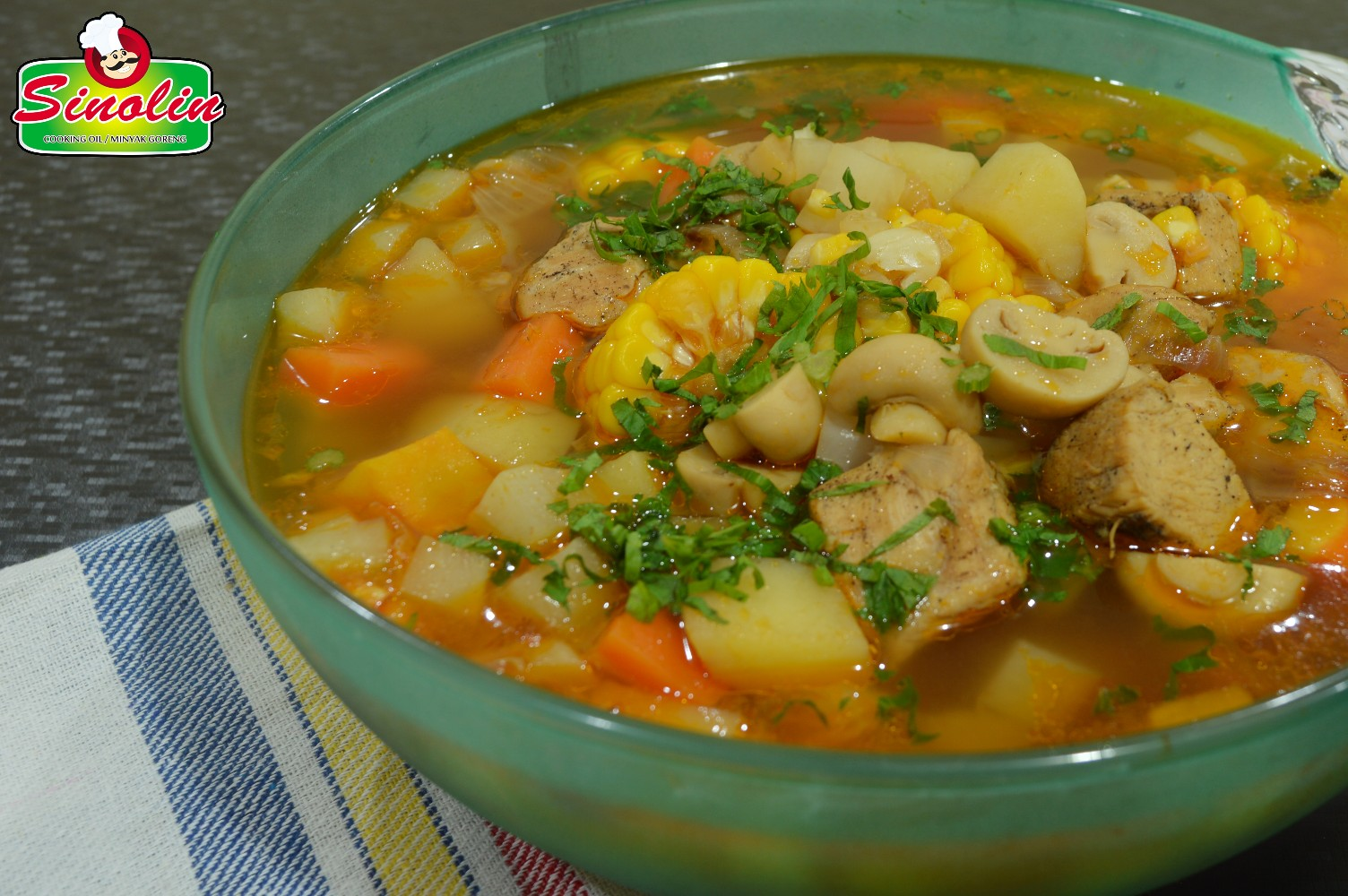 Chicken Soup With Mushroom Veggie Recipe by Dapur Sinolin