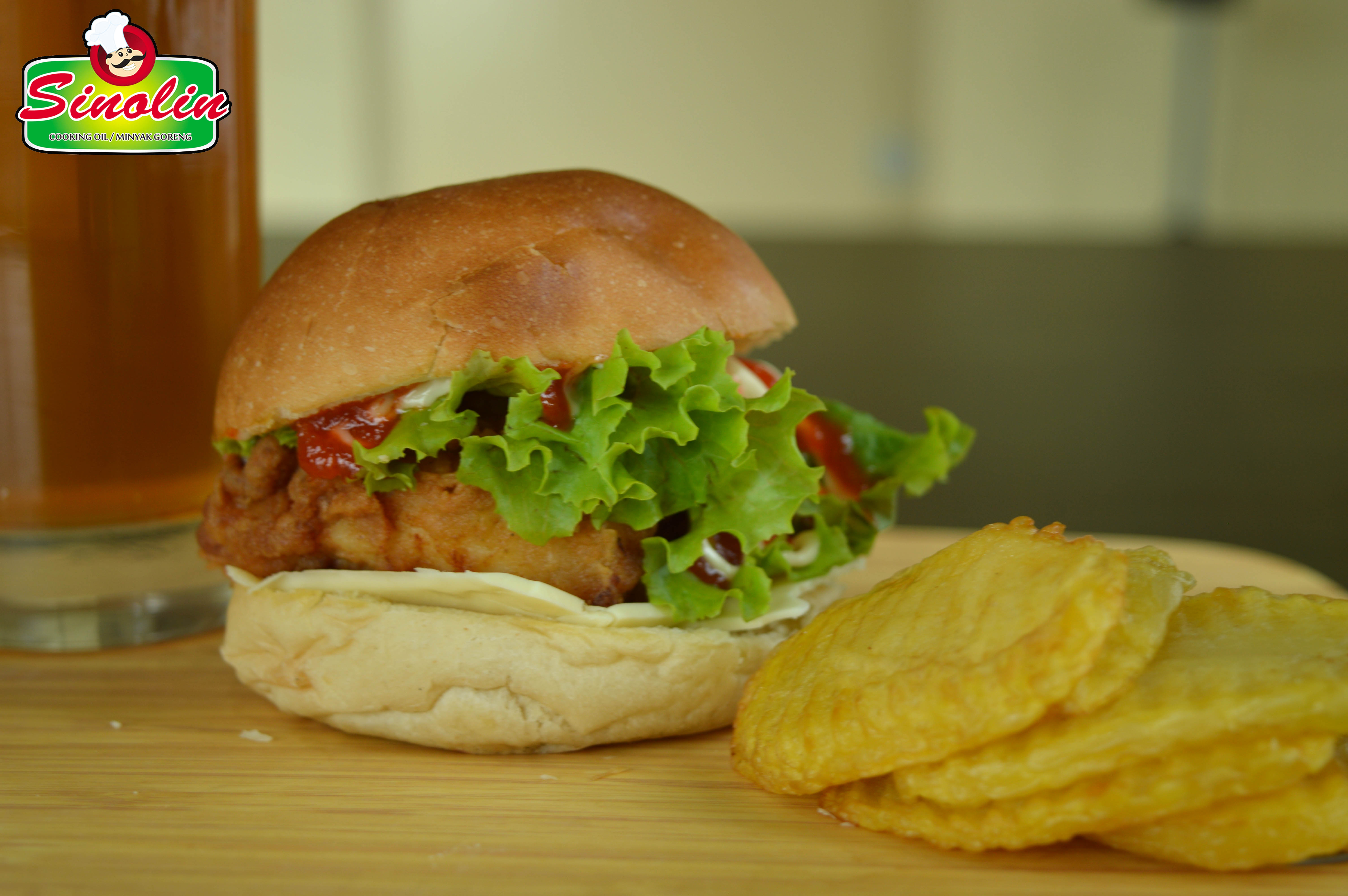 Chicken Sandwich by Dapur Sinolin