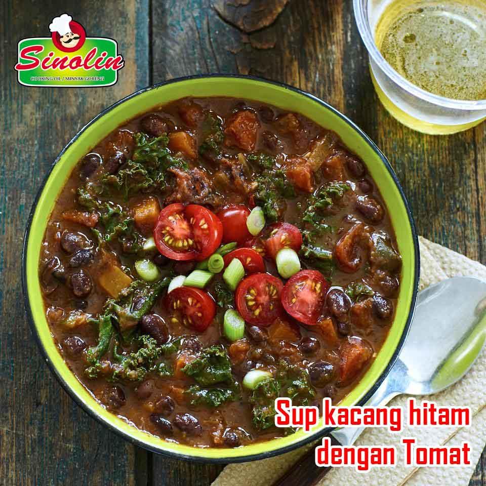 Sup kacang Hitam dengan Tomat oleh Dapur Sinolin