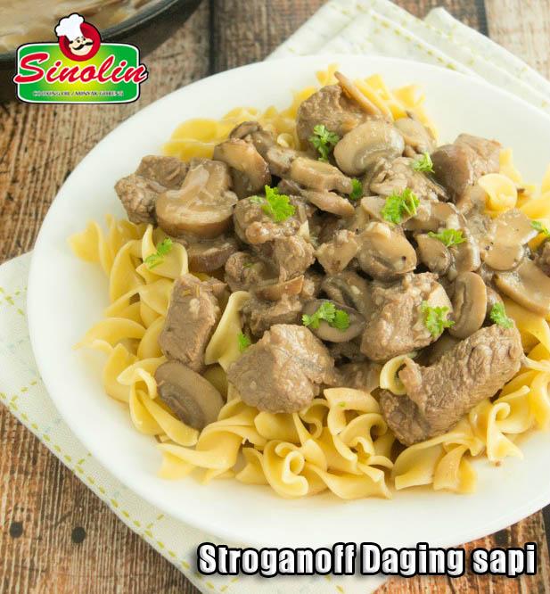 Stroganoff Daging sapi  Oleh Dapur Sinolin