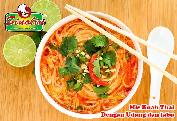 Sup Mie Thailand dengan Udang & Labu oleh Dapur Sinolin