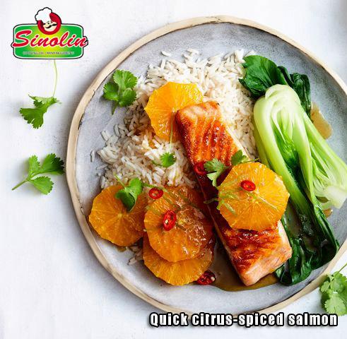 Quick citrus-spiced salmon oleh Dapur Sinolin