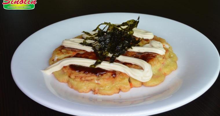 Okonomiyaki dengan cumi dan wortel oleh Dapur Sinolin