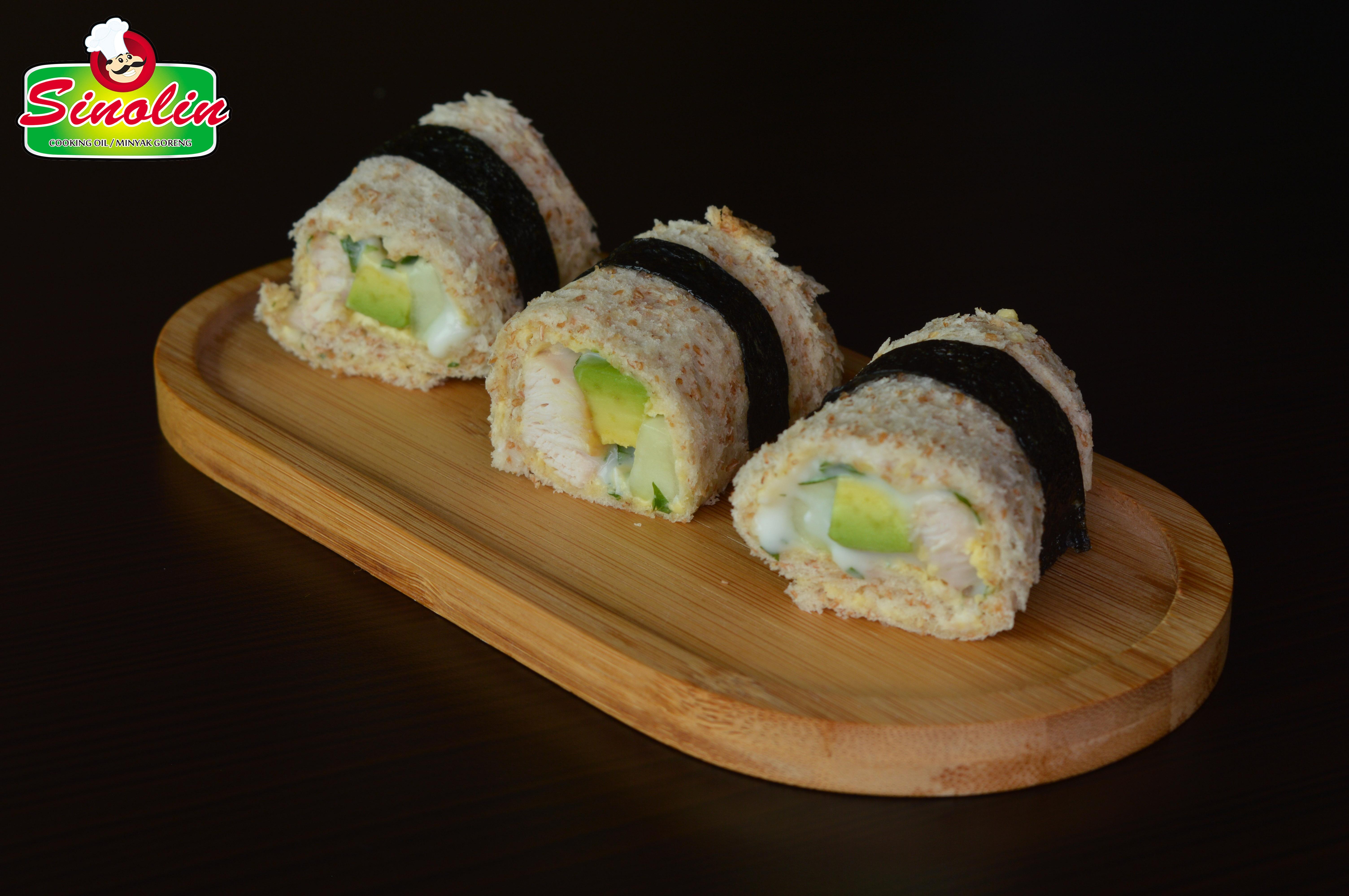 Sandwich Sushi Ayam dan Alpukat oleh Dapur Sinolin