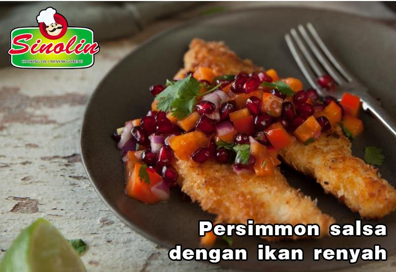 Persimmon salsa dengan ikan renyah oleh Dapur Sinolin
