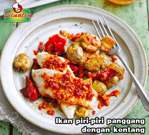 Ikan piri-piri panggang dengan kentang  oleh Dapur Sinolin