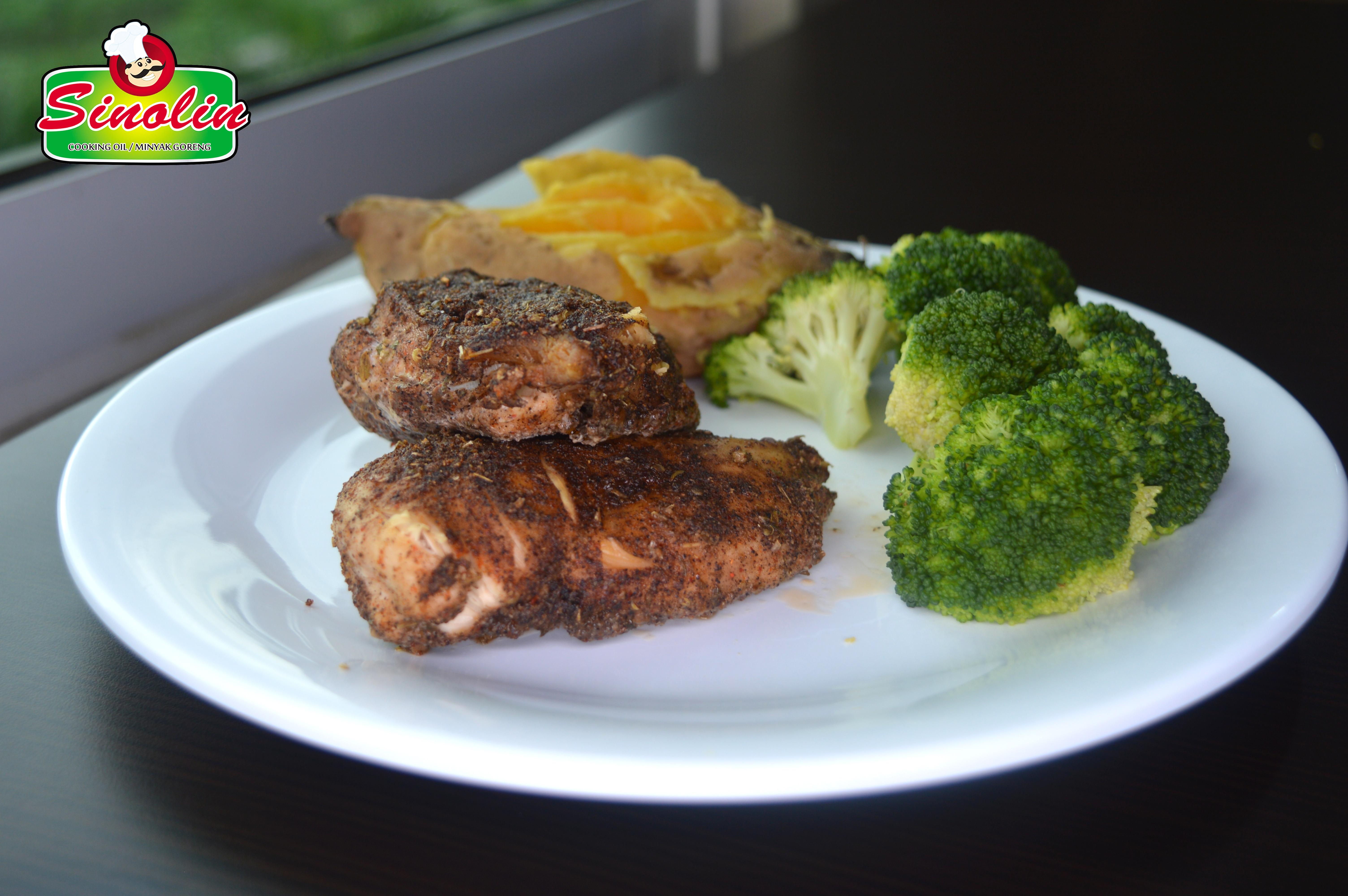 Easy Cajun Chicken by Dapur Sinolin