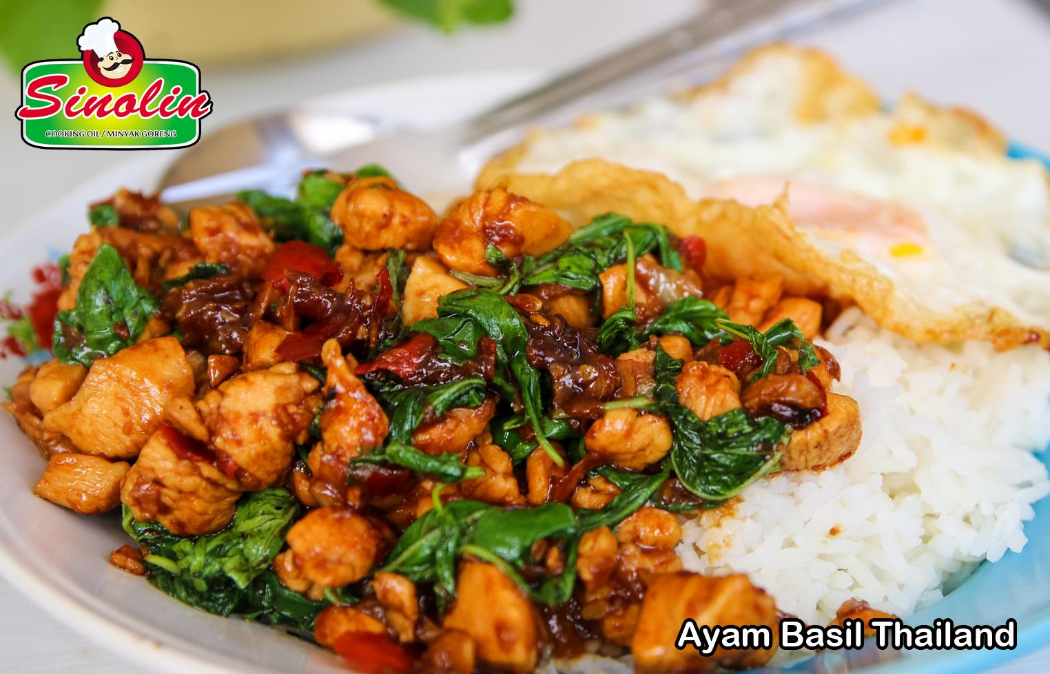 Ayam Basil Thailand oleh Dapur Sinolin