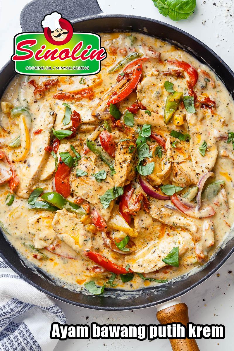 Ayam bawang putih krem oleh Dapur Sinolin