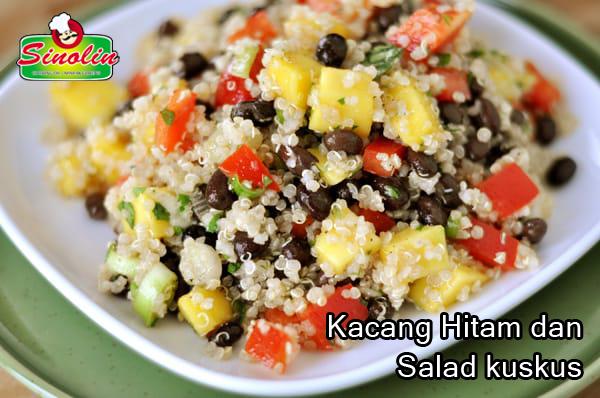 Kacang Hitam dan Salad kuskus oleh Dapur Sinolin