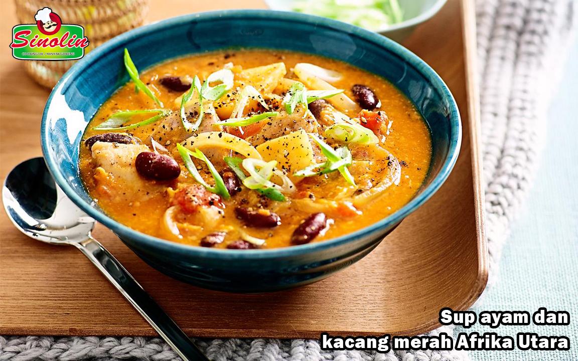 Sup ayam dan kacang merah Afrika Utara oleh Dapur Sinolin