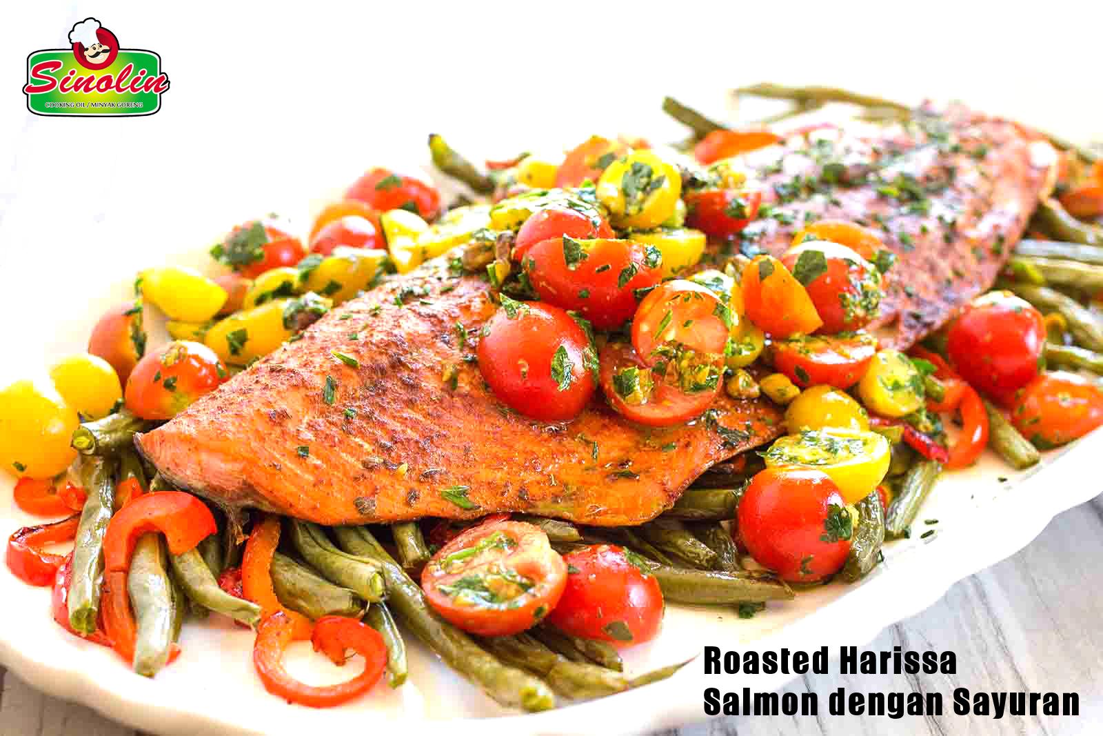 Roasted Harissa  Salmon dengan Sayuran oleh Dapur Sinolin
