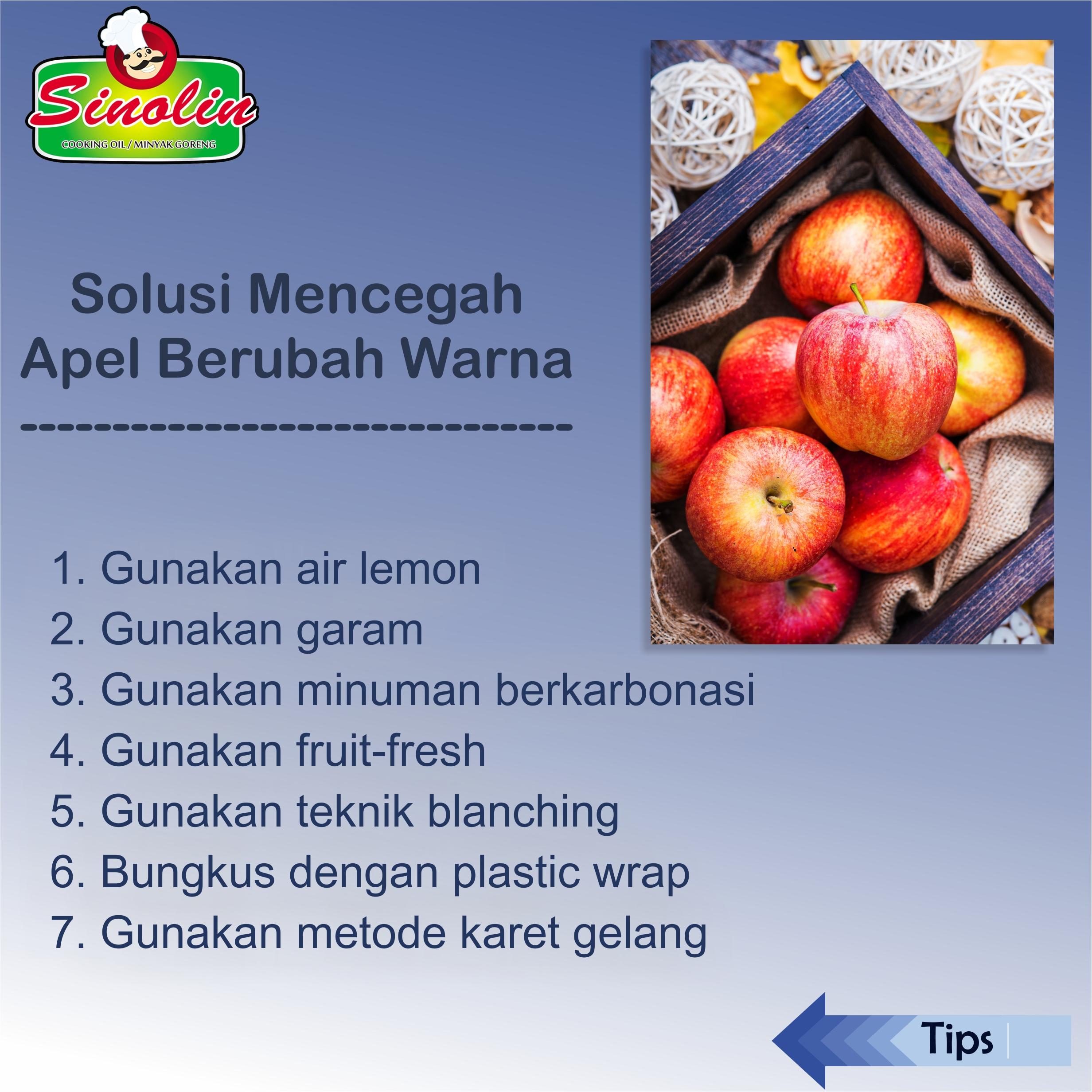 Solusi Mencegah Apel Berubah Warna oleh Dapur Sinolin
