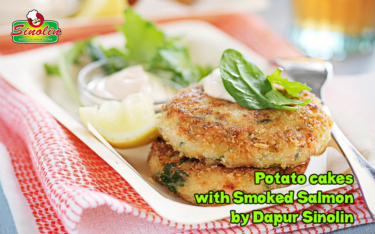 Potato Cakes with Smoked Salmon by Dapur Sinolin