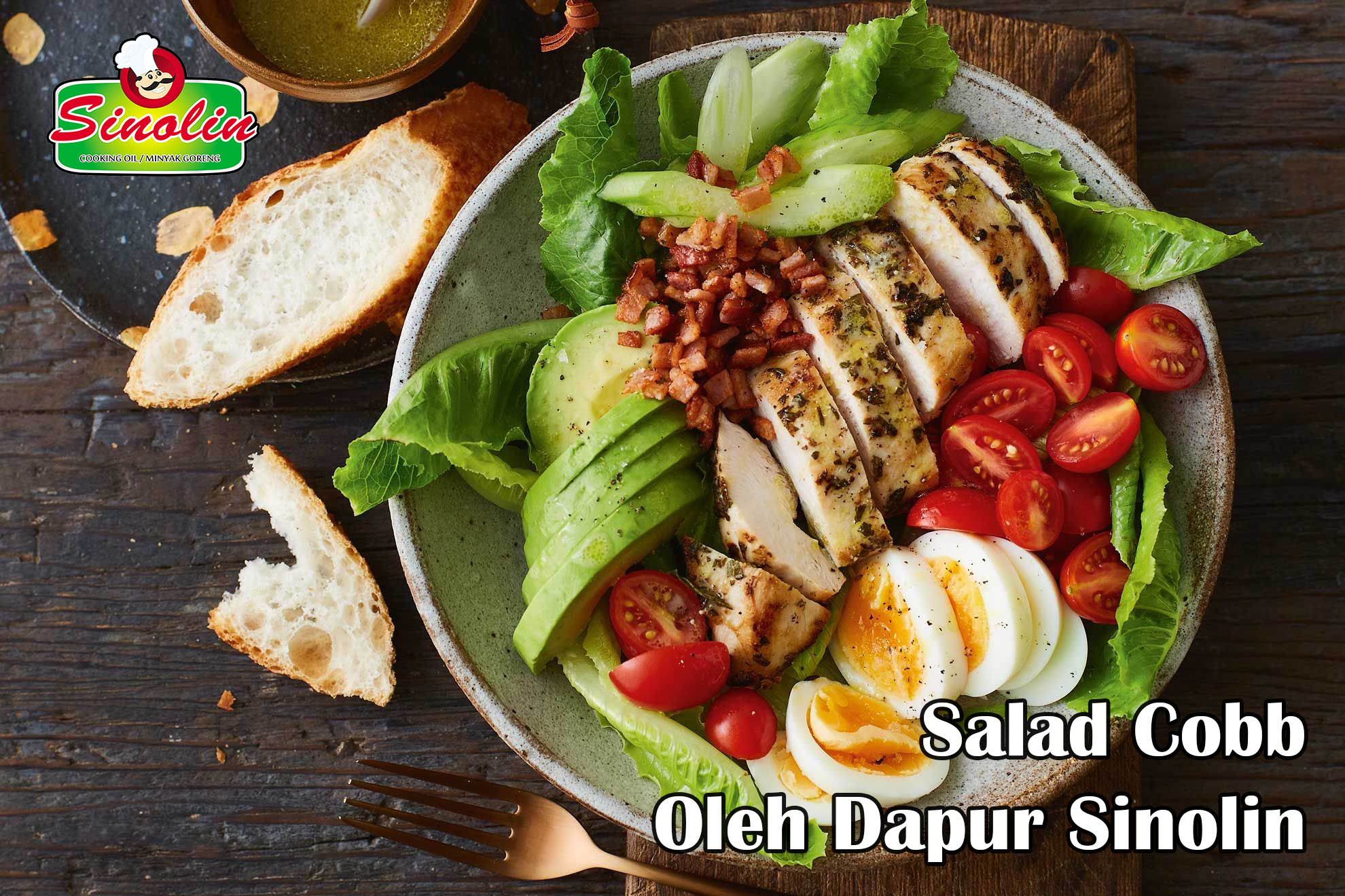Salad Cobb oleh Dapur Sinolin