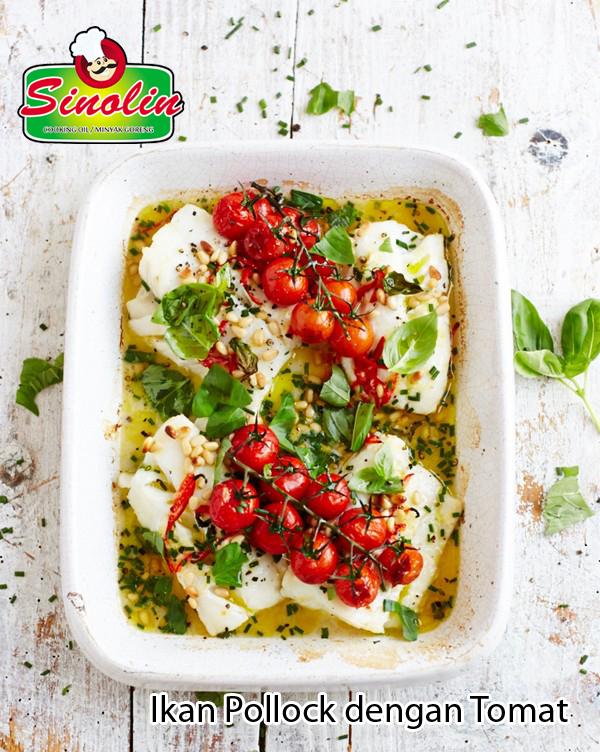 Ikan Pollock dengan Tomat  oleh Dapur Sinolin