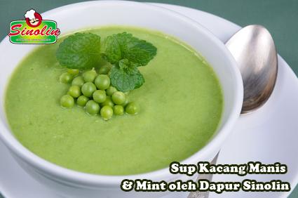 Sup Kacang Manis & Mint oleh Dapur Sinolin