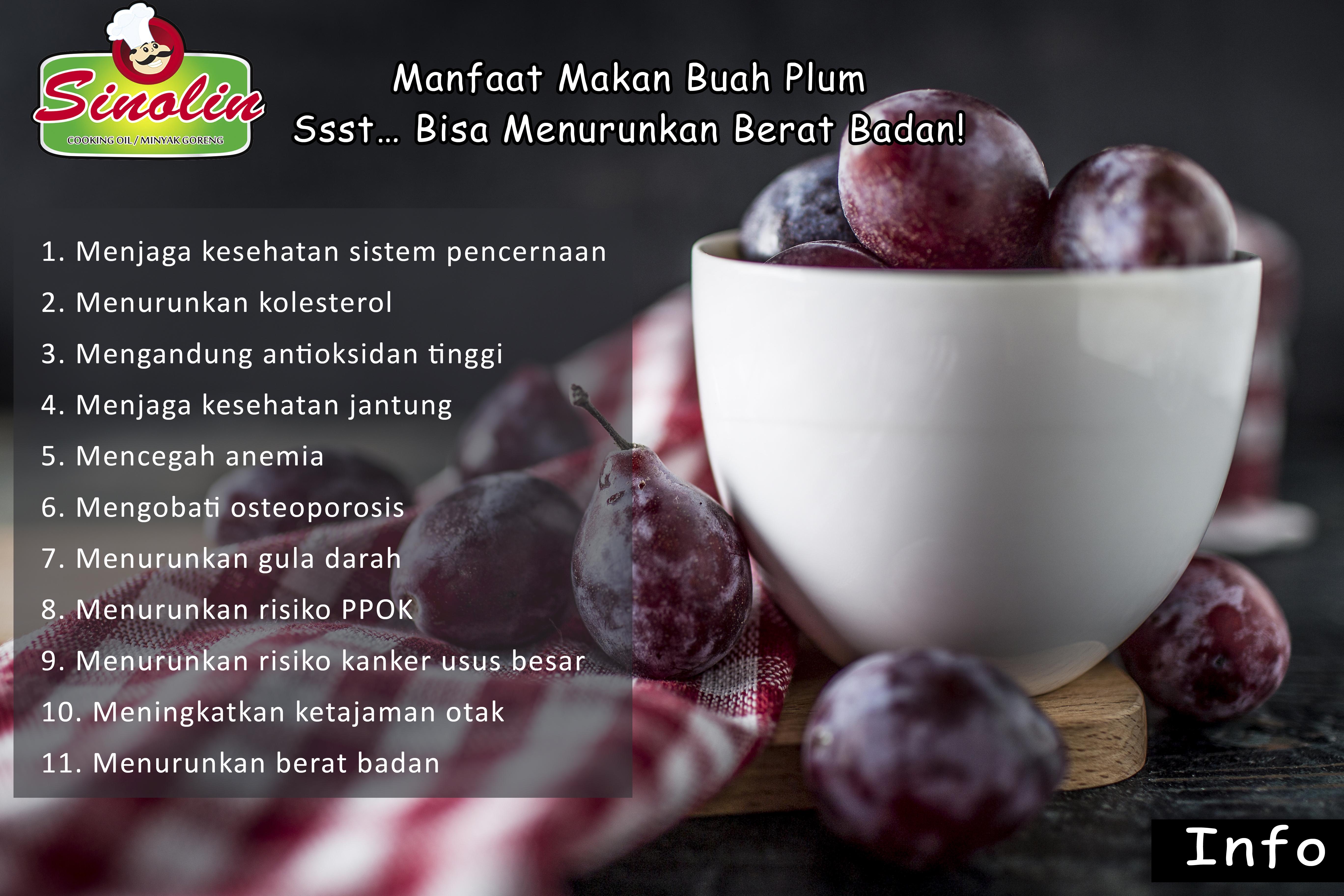 Apa saja manfaat buah plum untuk kesehatan? oleh Dapur Sinolin