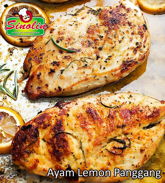 Ayam Lemon Panggang Oleh Dapur Sinolin