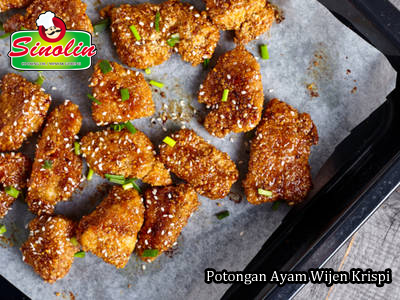 Crispy Sesame Chicken Bites By Dapur Sinolin