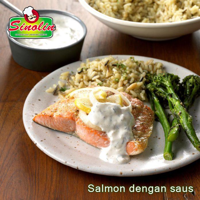 Salmon dengan saus oleh Dapur Sinolin