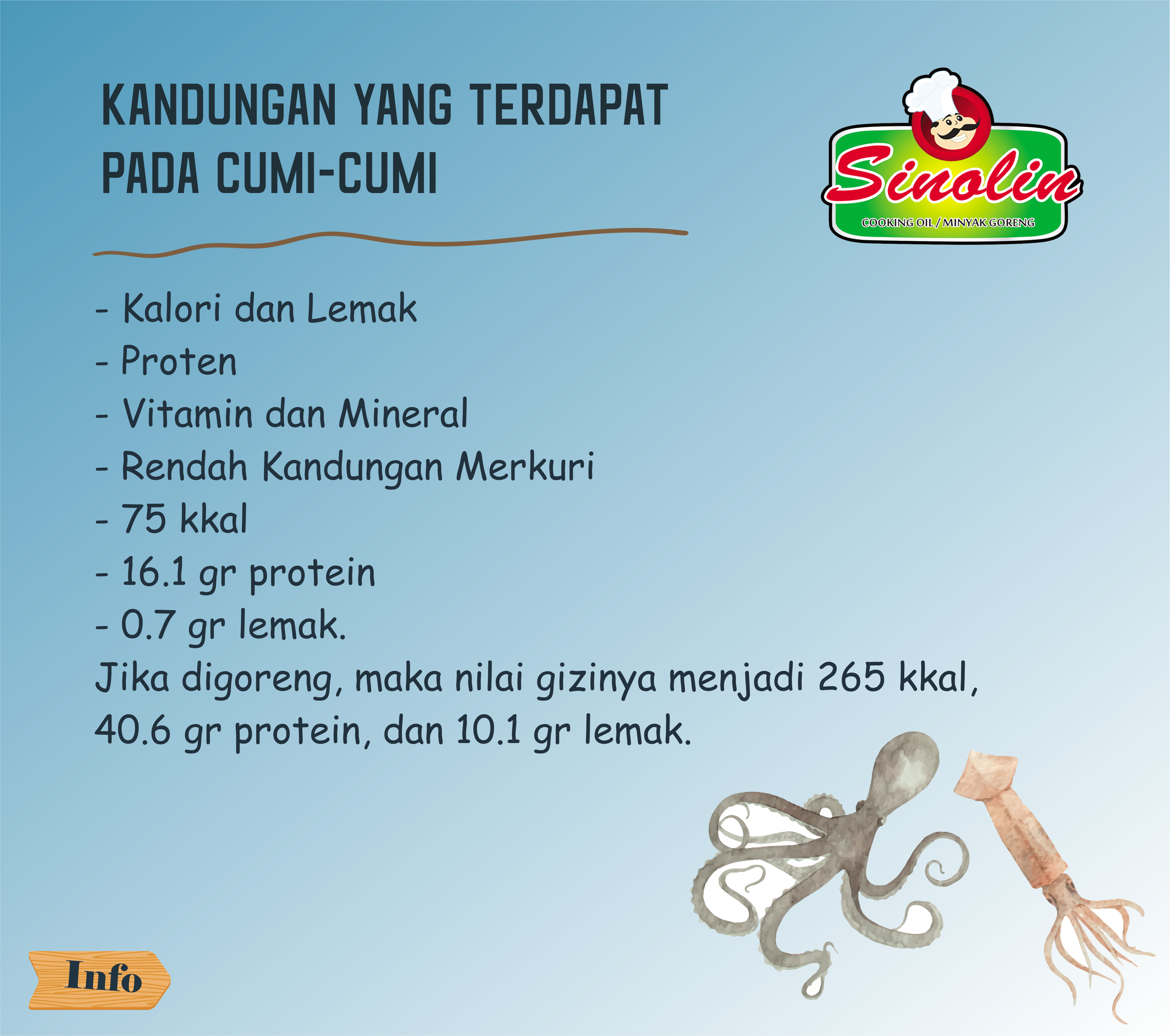 INFO: Nutrients That Are Contained On  A Squid By Dapur Sinolin