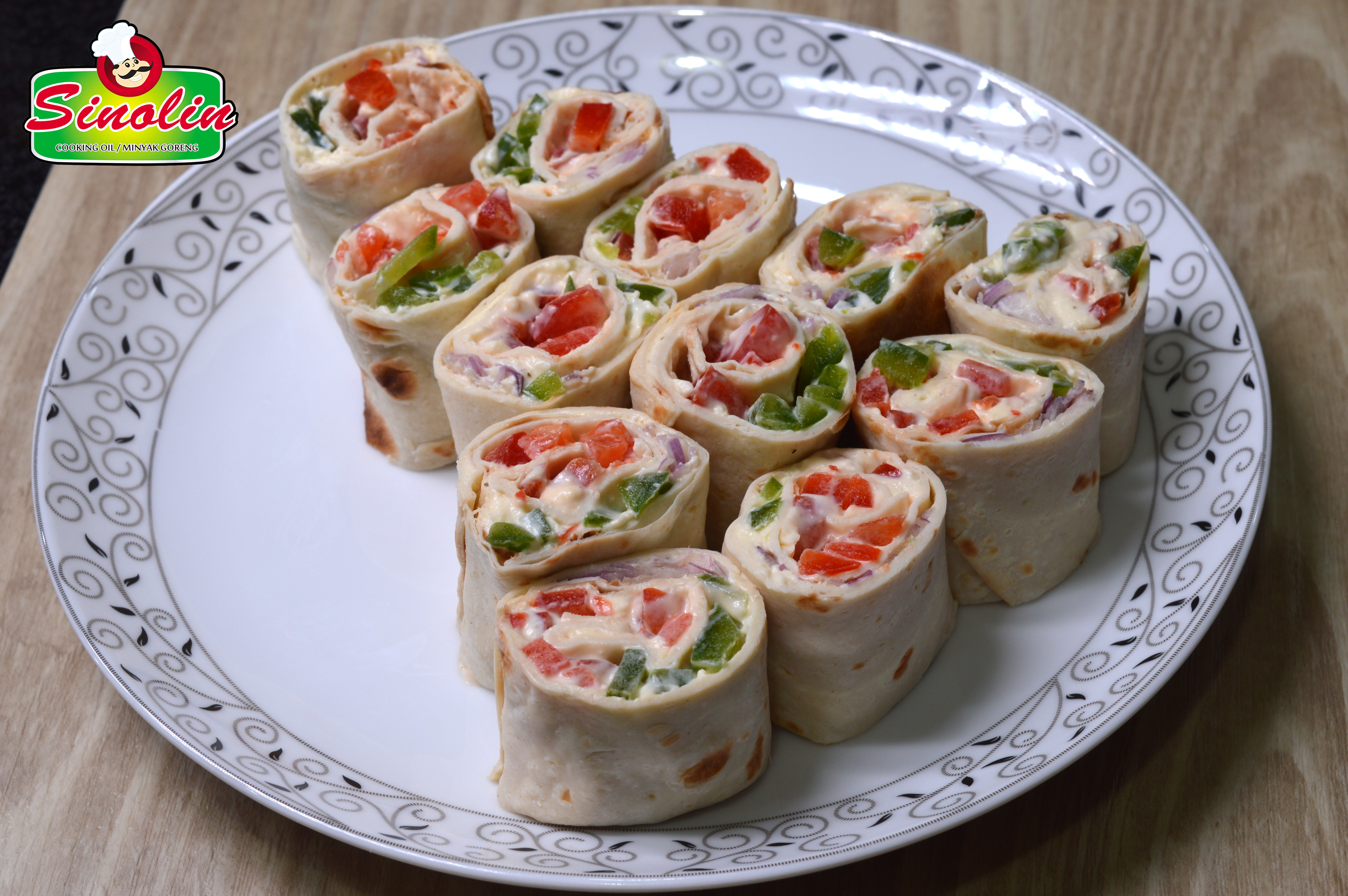 Tortilla Roll Up Natal oleh Dapur Sinolin