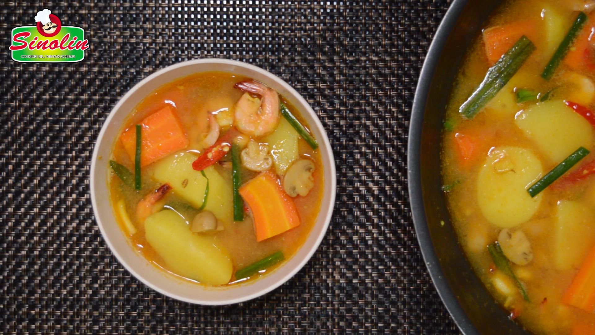 Sup Seafood Pedas oleh Dapur Sinolin