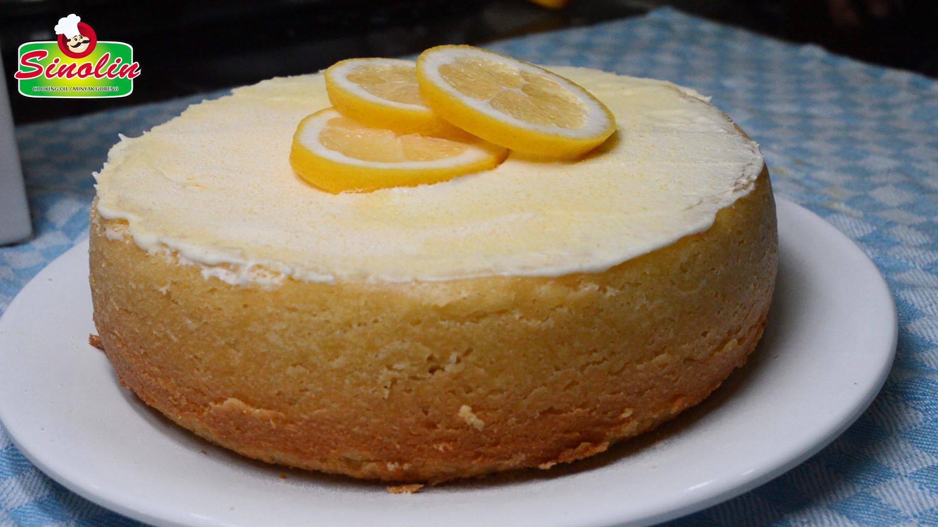 Rice cooker Lemon Cake dengan krim keju lemon Oleh Dapur Sinolin