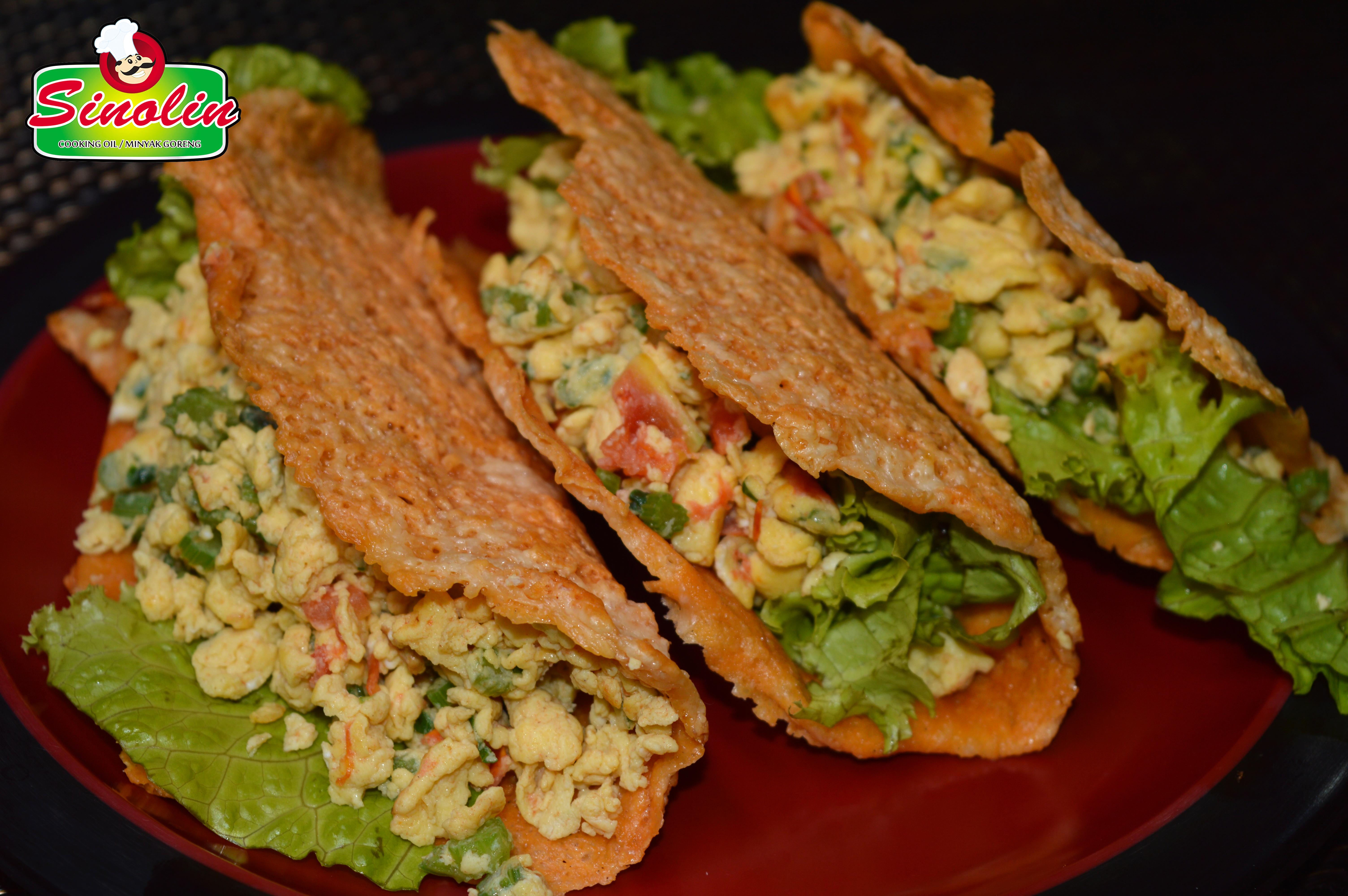 Keto Tortilla Tacos Oleh Dapur Sinolin