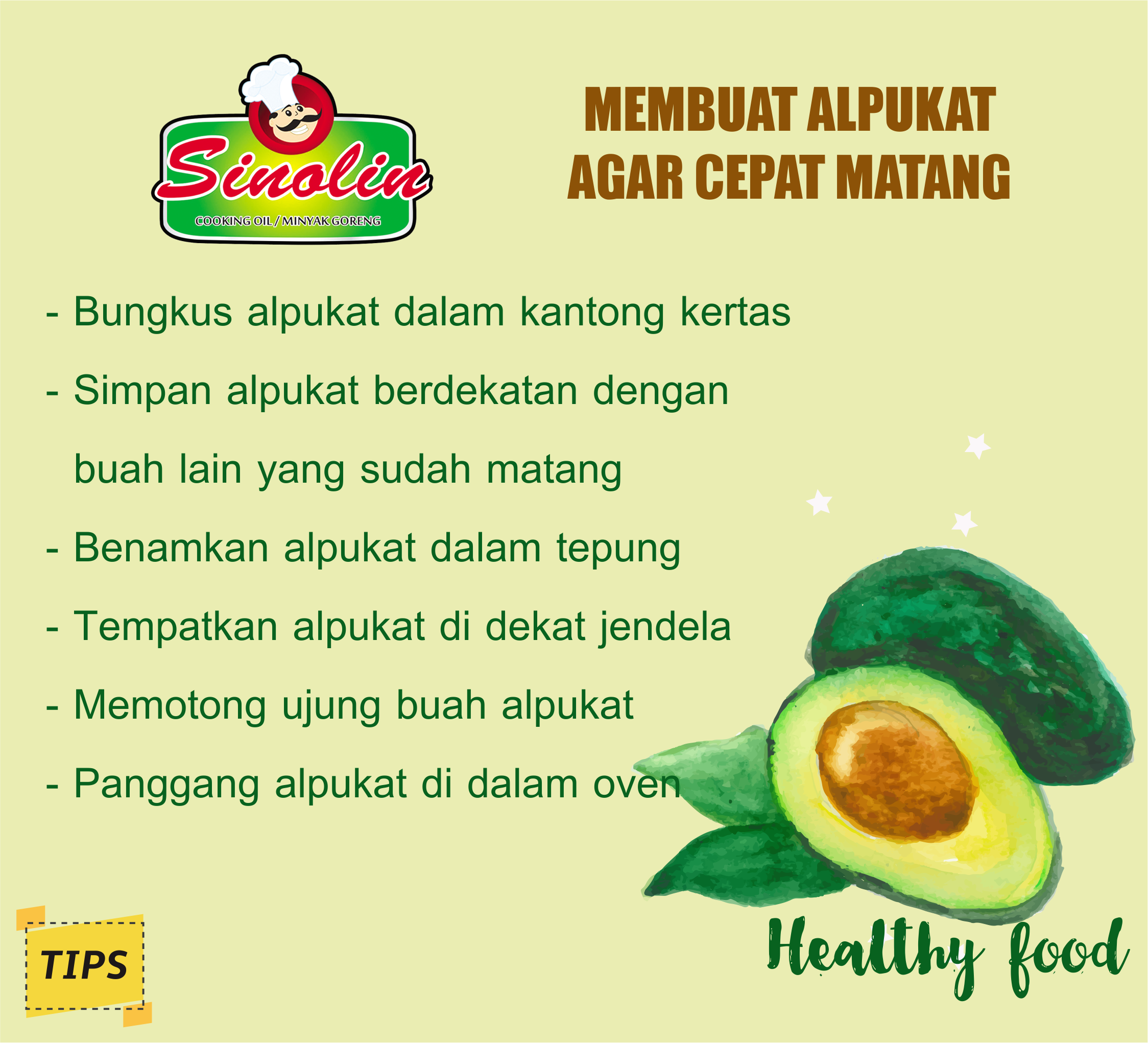Tips: Make Avocados Become Mature Fast By Dapur Sinolin
