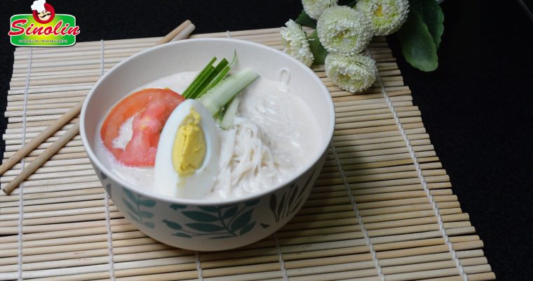 Soy Milk Noodle Soup (Kongguksu) by Dapur Sinolin