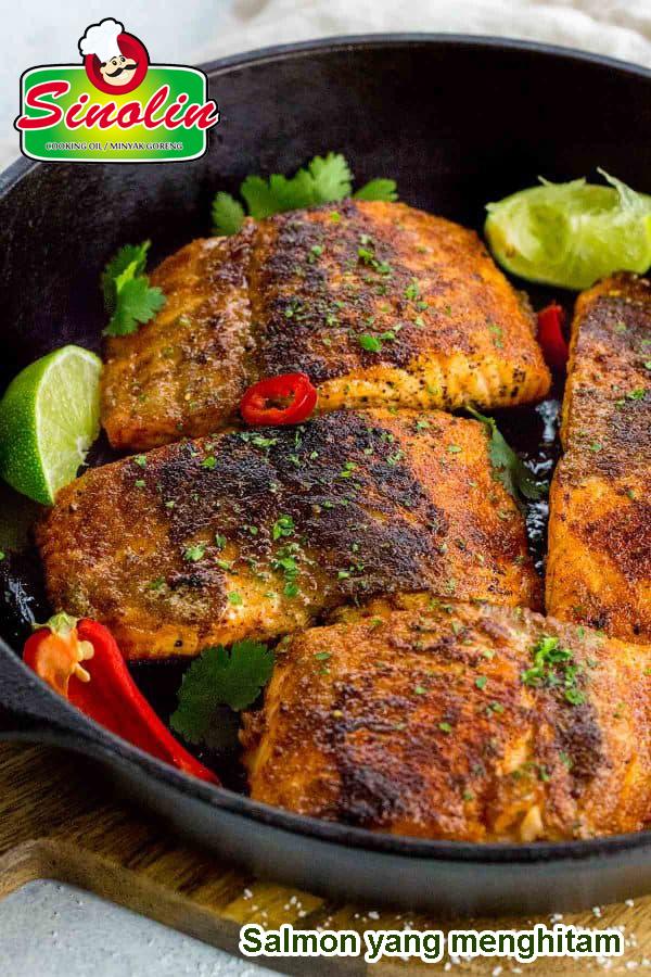 Salmon Yang Menghitam Oleh Dapur Sinolin