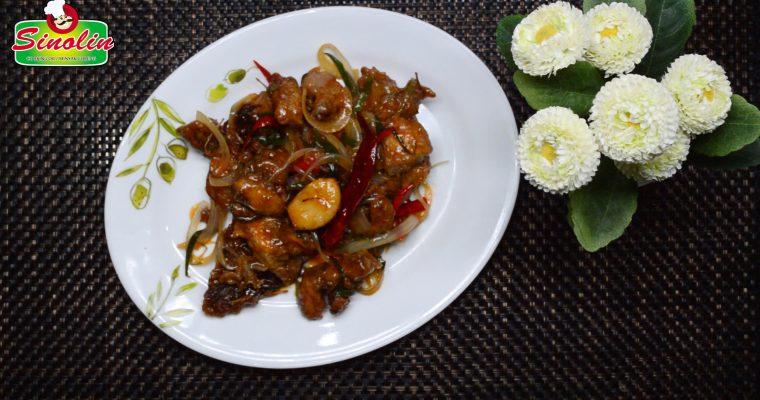 Ayam Goreng Bawang Putih Pedas (Kkanpunggi) oleh Dapur Sinolin