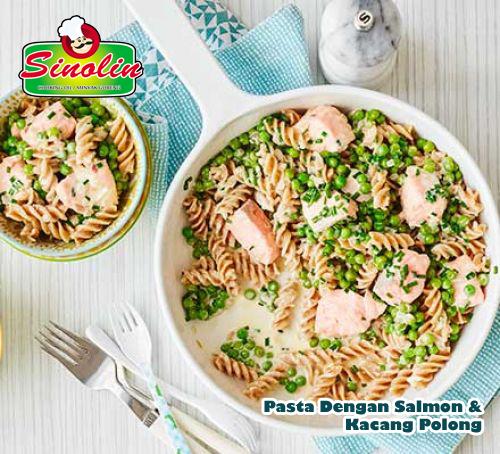 Pasta Dengan Salmon dan Kacang Polong Oleh Dapur Sinolin
