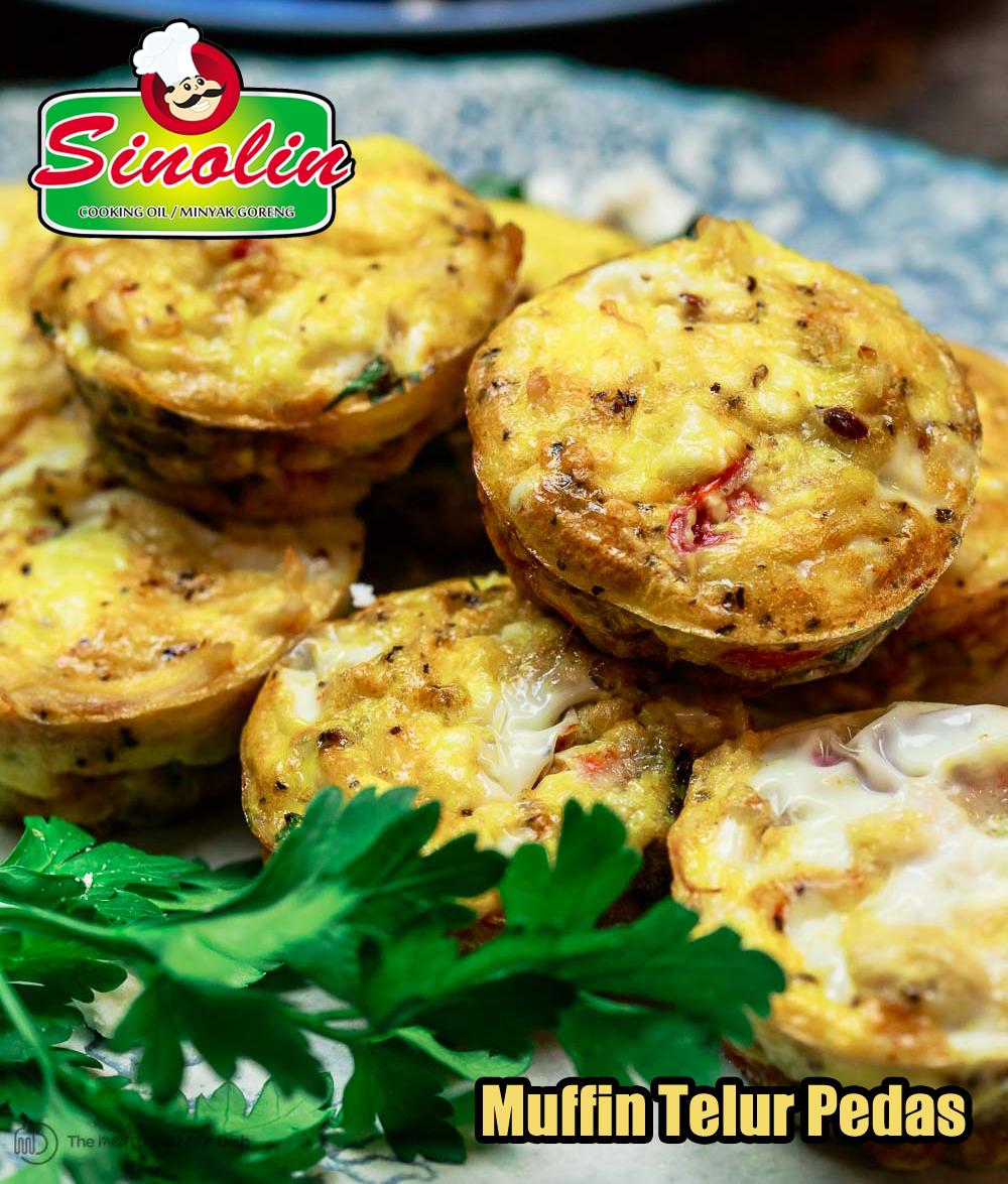 Muffin Telur Pedas Oleh Dapur Sinolin