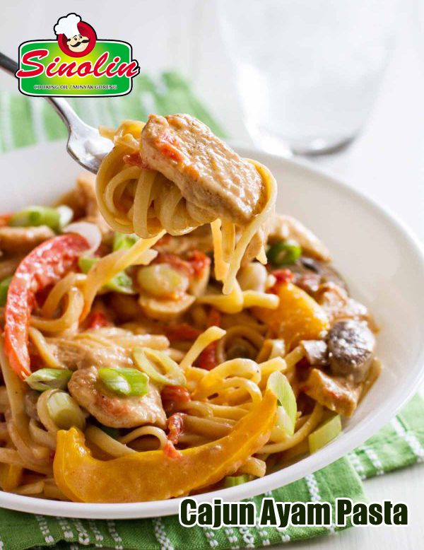 Recipe Cajun Chicken Pasta By Dapur Sinolin