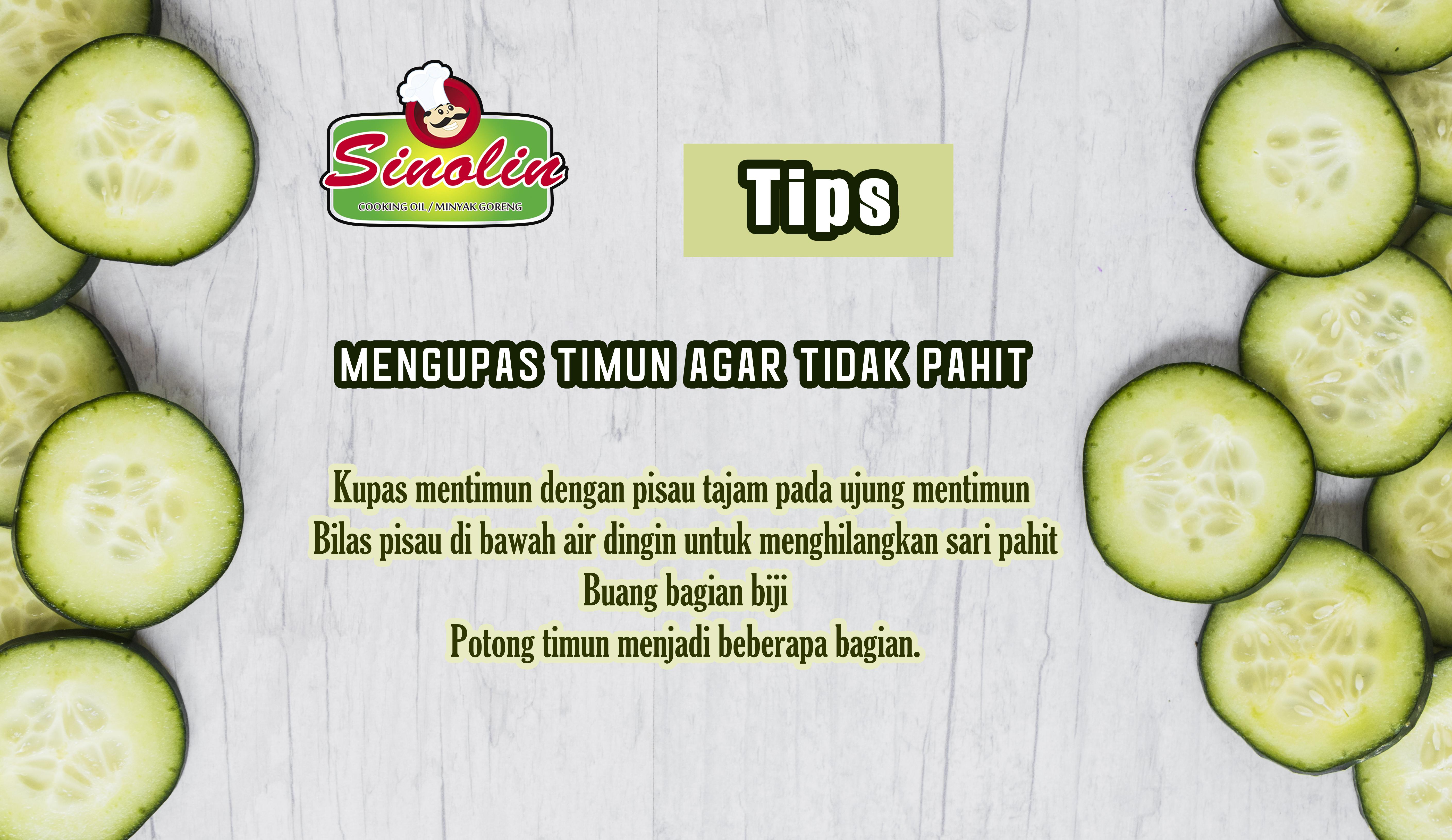 Tips: Peeling Cucumber So Not Bitter By Dapur Sinolin