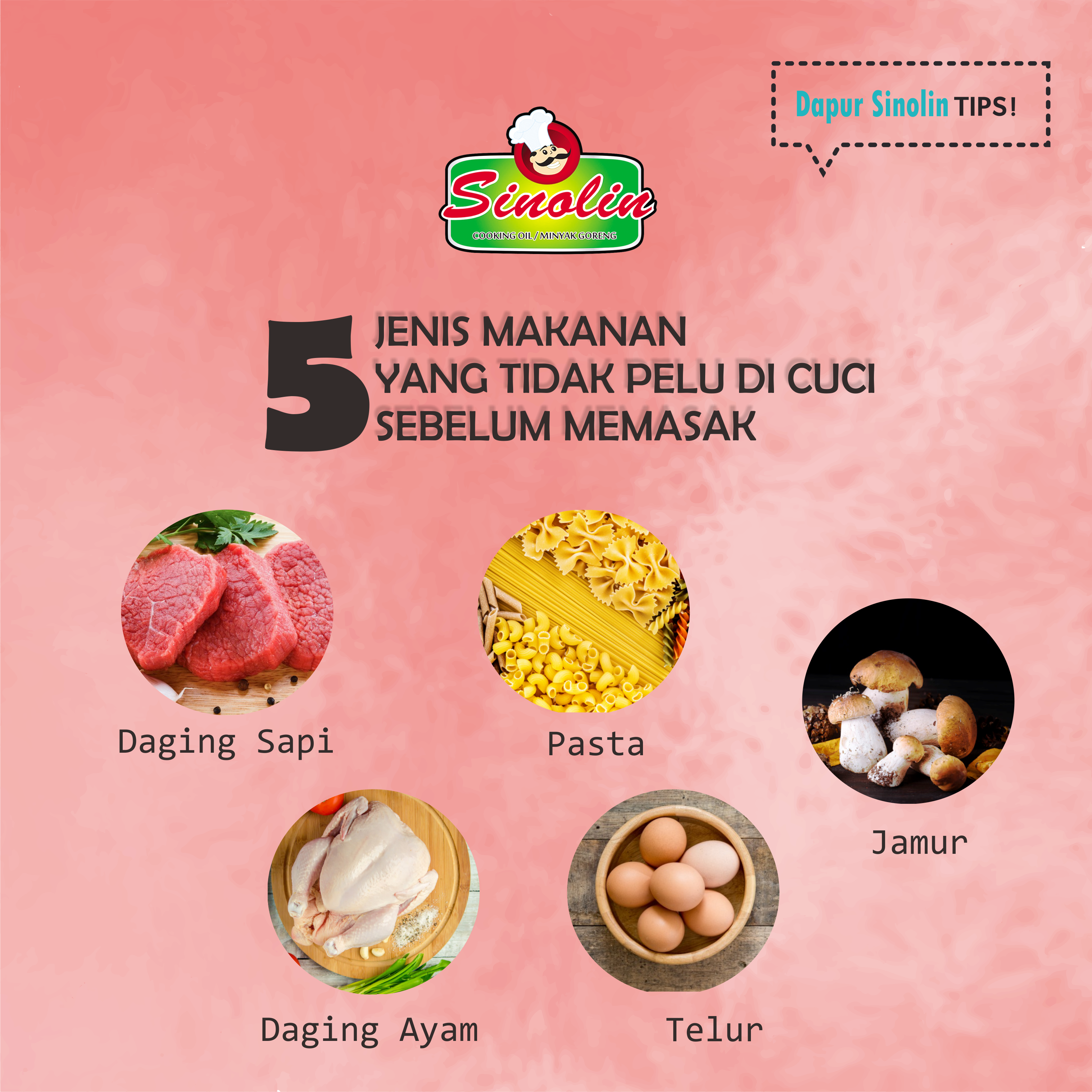Info: Foods that do not need to be washed before cooking By Dapur Sinolin