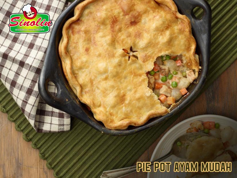 Pie Pot Ayam Mudah Oleh Dapur Sinolin