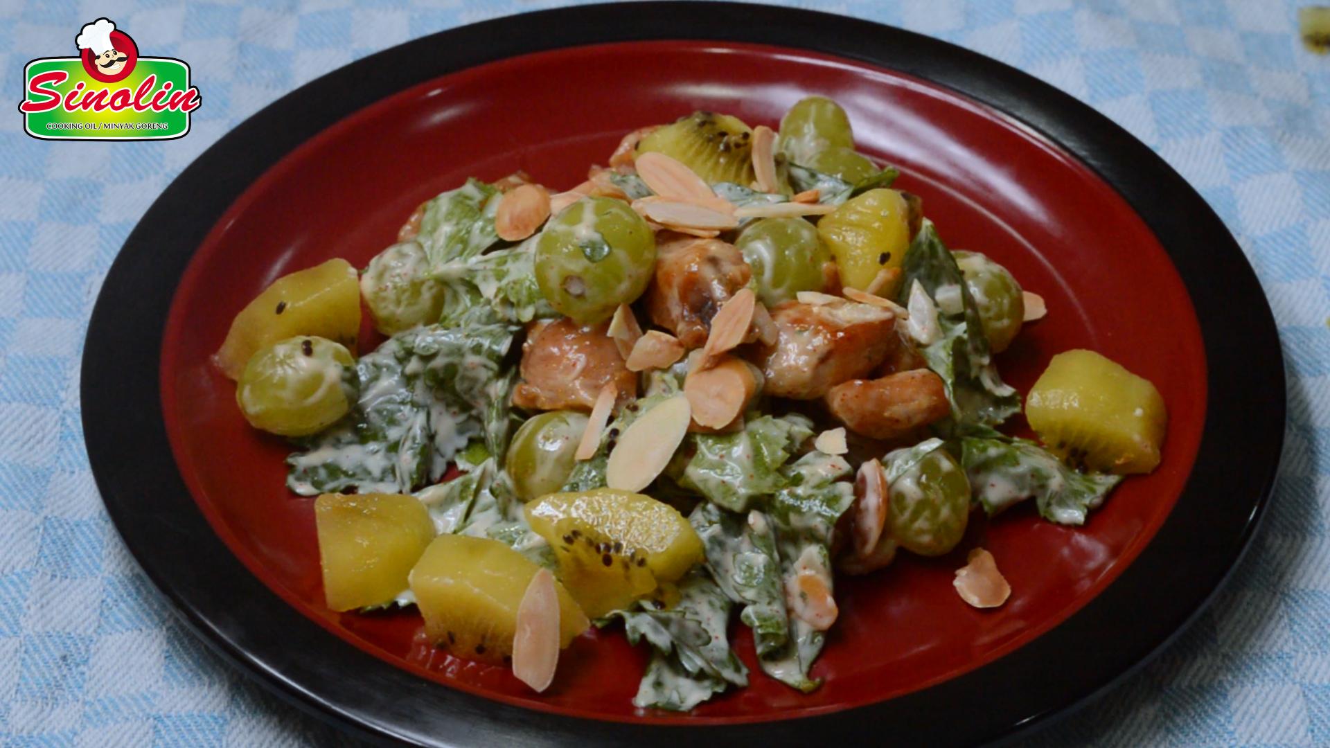 Resep Salad Ayam Almon Oleh Dapur Sinolin