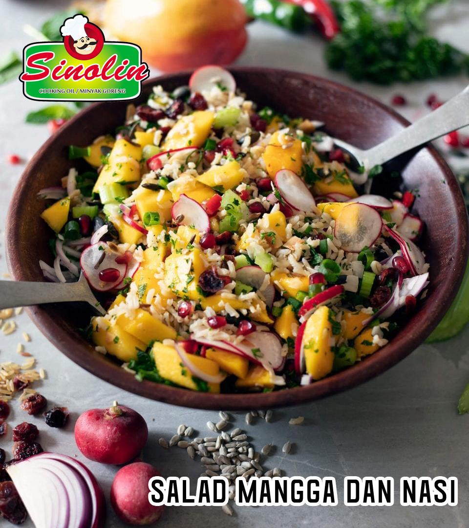 Salad Mangga dan Nasi Oleh Dapur Sinolin
