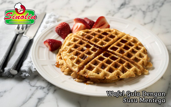 Wafel Gula Buttermilk-Brown Oleh Dapur Sinolin