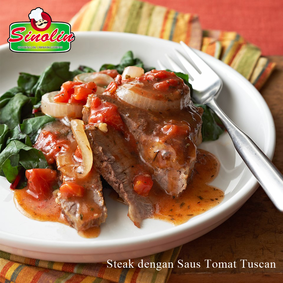 Steak with Tuscan Tomato Sauce By Dapur Sinolin