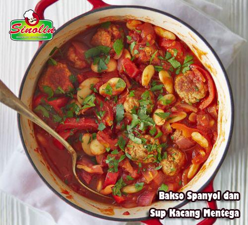 Spanish Meatball & Butter Bean Stew By Dapur Sinolin