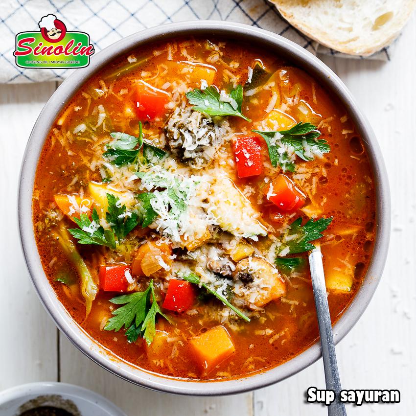 Sup Sayuran Oleh Dapur Sinolin